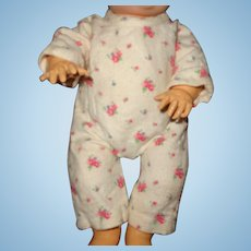 "Effanbee Dy-Dee Flannel Drop Seat Pajamas for 11""  Baby Doll"