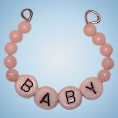 Vintage Pink Layette Bracelet for Dy-Dee or Dy Dee and Tiny Tears Baby