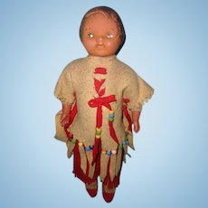 Dolly Dingle Native American Composition Doll ~ Madame Hendren