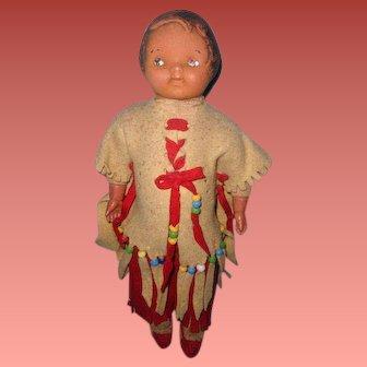Dolly Dingle Native American Composition Doll ~ Madame Hendren
