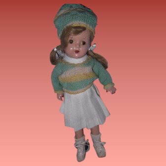 Pretty School Girl  Composition Doll