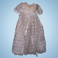 "Authentic Effanbee Dy-Dee Long Baby Tier Gown for 11"" Doll"