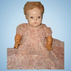 "Authentic Effanbee Dy-Dee Lou Long Baby Gown for 20"" Doll ~ TLC"