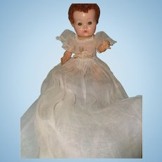 Authentic Effanbee Dy-Dee Baby Doll Long Organza Dress