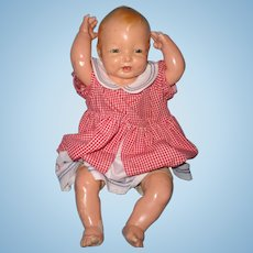 "Large 24"" Effanbee Bubbles Composition Baby Doll ~ Cutie Pie!"