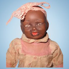 Early Black Composition Baby Doll ~ So cute!