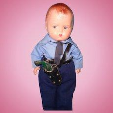 Effanbee Rare Factory Grumpy Policeman Composition Doll