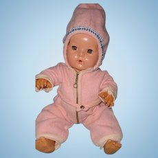 "Adorable  Tiny Tears or Dy-Dee Baby Snowsuit w/ Hoodie for 15"" Baby Doll"