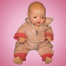 """Effanbee Dy-Dee Pink Eiderdown Zipper Snowsuit  for 15"""" Baby Doll"""