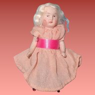 Darling Tiny All Bisque Platinum Blonde German Doll