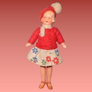 "German 3 1/2"" All Original Dollhouse Doll ~ so sweet"