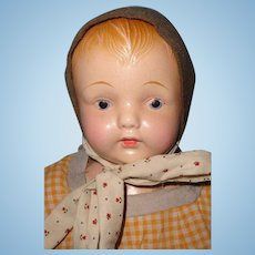 "Early Effanbee 17"" Composition Baby Doll"