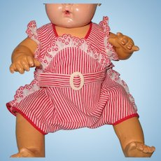 "Authentic Effanbee Dy-Dee Red/White Stripe Romper for 15"" Baby Doll ~ very cute"