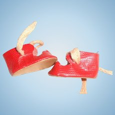 Small Oil Cloth Shoes for Composition or Bisque Doll