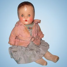 Adorable 1940s Composition Baby Doll