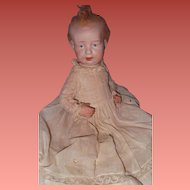 Adorable German Bisque Head Baby Doll in Factory Clothing ~ Composition Body