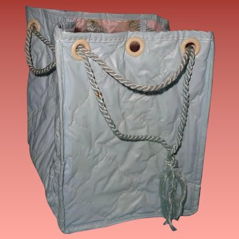 Authentic Effanbee Dy-Dee Baby Diaper Bag  ~ Rare Blue Color