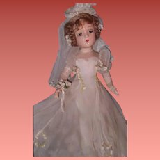 "Magnificent and Rare 21"" Madame Alexander PORTRAIT ""Sally"" Bride Composition Doll ~ Wow ~ Stunning"