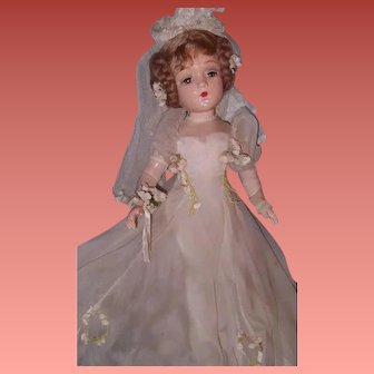 """Magnificent and Rare 21"""" Madame Alexander PORTRAIT """"Sally"""" Bride Composition Doll ~ Wow ~ Stunning"""