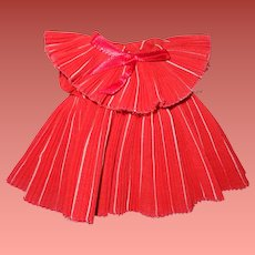 "Shirley Temple Pleated Holiday Dress for 11"" Ideal Composition Doll"