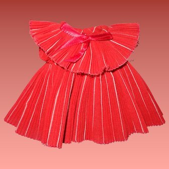 """Shirley Temple Pleated Holiday Dress for 11"""" Ideal Composition Doll"""