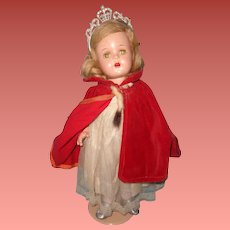 "Factory Original Princess Elizabeth 17"" Composition Doll ~ Madame Alexander~ Gift Giving Condition"