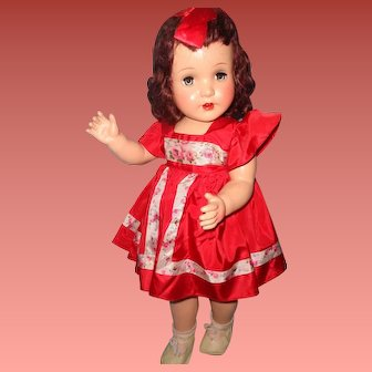"""Peggy the 27"""" Composition Walking Doll ~ Gift Giving Condition"""
