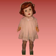"Large 27"" Late 1940s Composition Walker Doll ~ Pretty"