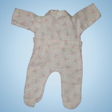 "Authentic Effanbee Dy-Dee Drop Seat Pajamas for 11"" Baby Doll"