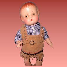 60ae1272ff My Dolly Market.  11 USD. Authentic Effanbee Patsyette Cowgirl Outfit for  9