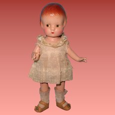 "Factory Original Patsyette Composition 9"" Doll by Effanbee ~ Nice"