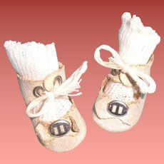 "Authentic Effanbee Patsyette Shoes for 9"" Doll ~ Good for Bisque Too"