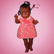 Factory Original Black Baby Grumpy Composition Doll by Effanbee