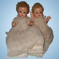 Effanbee Patsy Babyette Composition Twin Set ~ Cutie pies