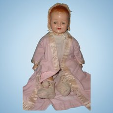 Early Molded Hair Composition Baby Doll ~ Gift Giving Condition