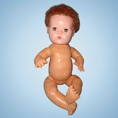 "Effanbee Dy-Dee 15"" Baby Doll w/ Curly Curacal Hair"