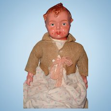 "Early Baby Grumpy Type 20"" Composition Baby Doll"