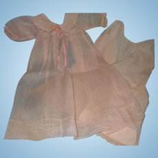 """Effanbee Dy-Dee FAO Schwartz Long Baby Gown w/ Slip for 15"""" Baby Doll ~ Early Tag"""