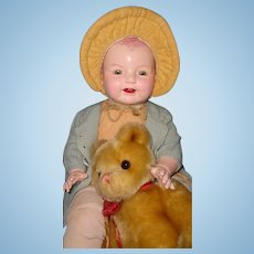 "27"" Huge Horsman Dimples Composition Baby Doll ~ TLC"
