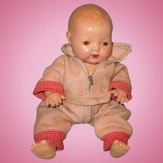 6b65782ce1 My Dolly Market.  75 USD. Effanbee Dy-Dee Pink Eiderdown Zipper Snowsuit  for 15