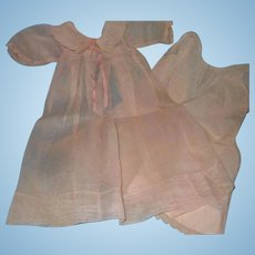 """Effanbee Dy-Dee Long Baby Gown w/ Slip for 15"""" Baby Doll ~ Early Tag"""