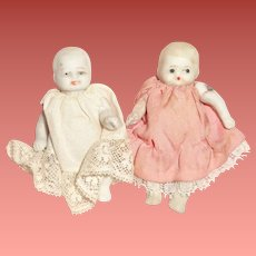 Tiny All Bisque Sisters Forever Doll (Pair)