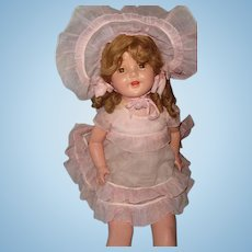 "Factory Original 26"" Composition Mama Doll ~ Pretty in Pink"