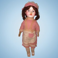"Early Factory Original Composition 17"" Doll ~ Sweet"