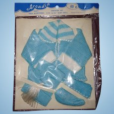 MIP Blue Sweater Set for Effanbee Dy Dee Baby