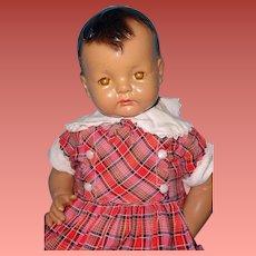 "RARE Black 25"" Sugar Baby Composition Doll by Effanbee"