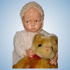 "Very Rare 24"" Baby Grumpy Composition Doll by Effanbee"