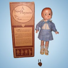 Effanbee Factory Original Patsyette Composition Doll w/ Box ~ Tagged