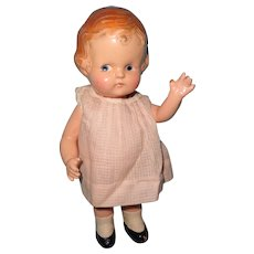 "Factory Original Arranbee 9"" Composition Doll ~ Kewpie Like"