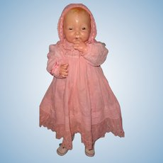"""Large 29"""" Bubbles by Effanbee RARE Composition Straight Leg Doll Version"""